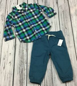 7e12361c5 Baby Gap Boys 12-18 Month Outfit. Plaid Shirt & Flannel Lined Pants ...