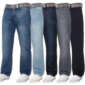Kruze-Nuevo-Para-Hombres-Jeans-Pantalones-Cintura-todos-Denim-Pierna-Recta-piernas-Grande-Alto-King