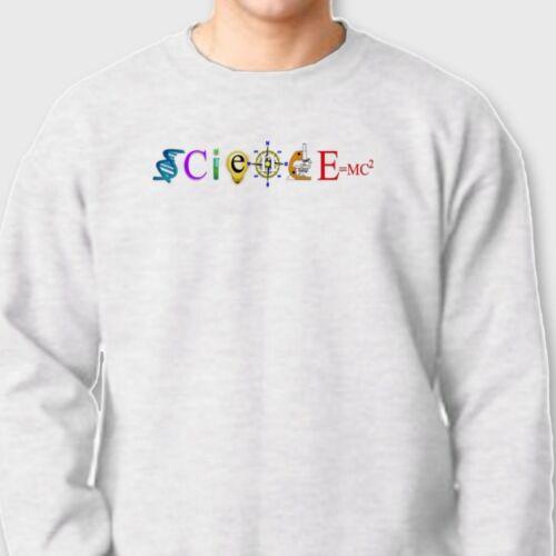 SciencE=MC2 Mass Energy Equation Funny Nerds Tee Einstein Crew Neck Sweatshirt