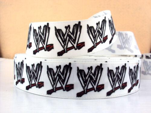 1 METRE WWE WRESTLING RIBBON SIZE 1 INCH HAIR BOWS HEADBANDS CARD MAKING CRAFTS