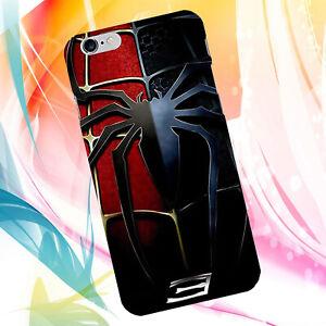 Détails sur Coque iPhone 5 5S SE 7 Spiderman 3 logo noir rouge M1
