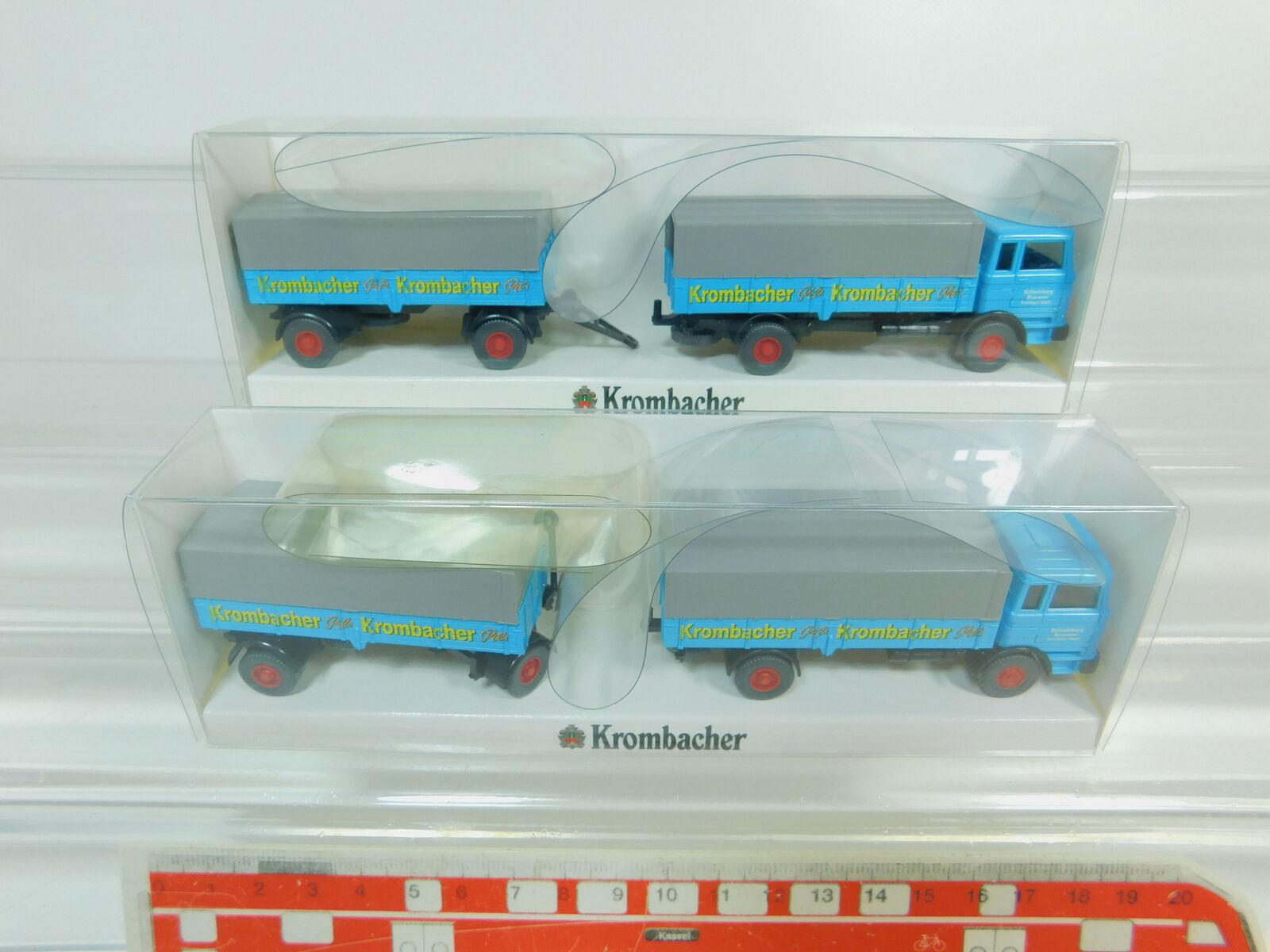BO433-0,5  2x Wiking H0 1 87 3411 Lastzug MB LP 1620 Krombacher, sehr gutOVP  | Verbraucher zuerst
