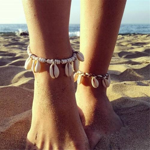 Women Shell Beads Anklet Chain Boho Ankle Bracelet Sandal Beach Foot Jewelry