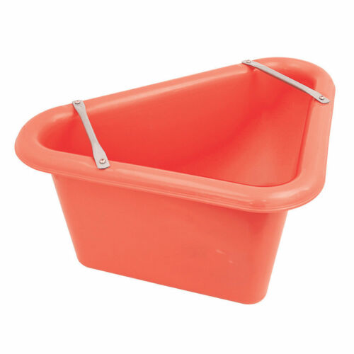 Perry Equestrian Triangular Feed Manger Stable Yard Horse Feed Water Buckets D9