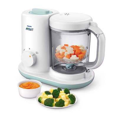 Philips Avent Essential Baby Food Maker Scf862 02 Bpa Free Steamer Blender Ebay