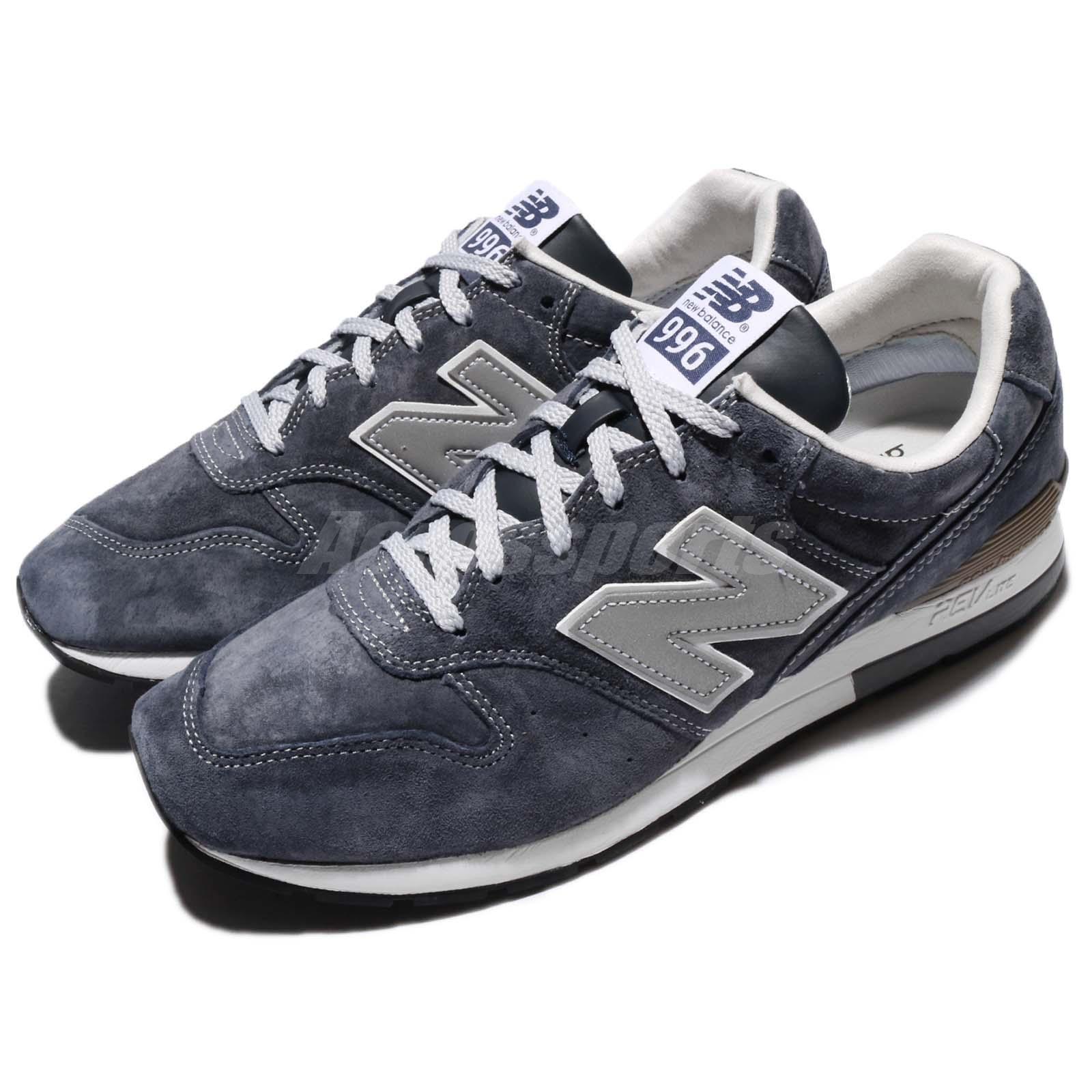 New Balance MRL996EM D Navy Suede 3M Silver Revlite Mens Running Shoe MRL996 EMD