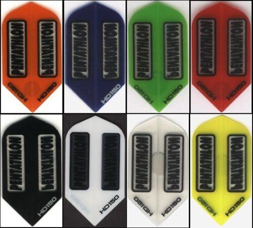 6 PACK OF SLIM PENTATHLON HD150 Dart Flights: 150 MICRONS THICK: 6 sets
