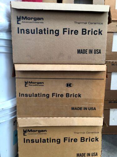 """K-26 Insulating Firebrick 2600F Qty 2 9 x 4.5 x 1/"""" and 4.5 x 4.5 x 1/"""" Qty 2"""