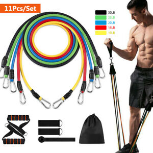 11pcs//Set Resistance Bands With Handles Door Anchor Ankle Strap Yoga Hot Sall !!