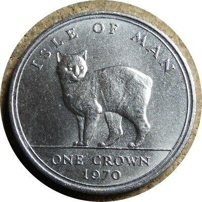 elf Isle of Man IOM 1 Crown 1970 Manx  Cat