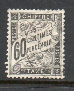 France-1881-Tax-stamp-60c-Yv-21-Used-Very-Fine