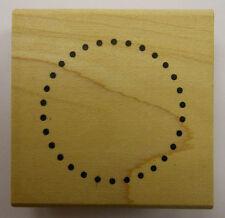 Small Dot Circle Frame Rubber Stamp by DeNami Design