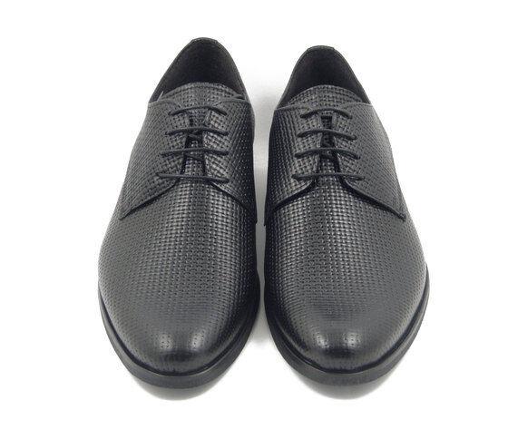 schuhe schuhe schuhe herren Eleganti in Pelle schwarz Modello Derby Intrecciato, Romano Sicari 7750 fd909a