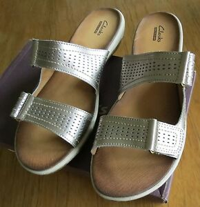 5998f272b4a Clarks Double Strap Leather Sandals