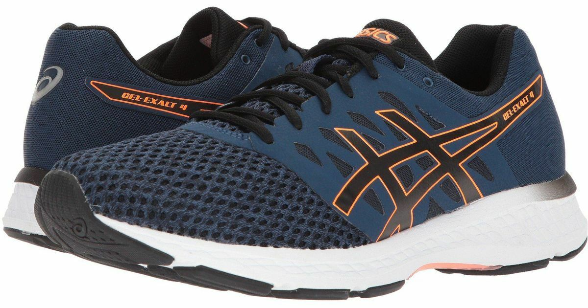 ASICS Duomax GEL-EXALT 4 Dark Blue Black Orange Men Sneakers 90 Size 11 NEW