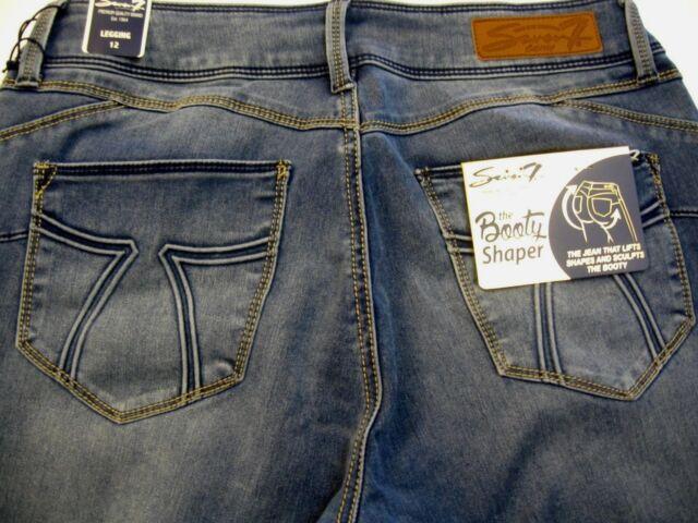 5d811175821 Seven7 Booty Shaper Jeans Sz 12 SKINNY Leggings Stretch Pants for sale  online