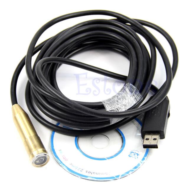5M LED Waterproof Borescope Endoscope USB Cable Inspection Tube Spy Camera New