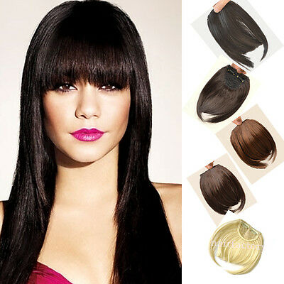 100% New Clip in on hair extensions bangs fringe 1pcs hot women Real short bangs