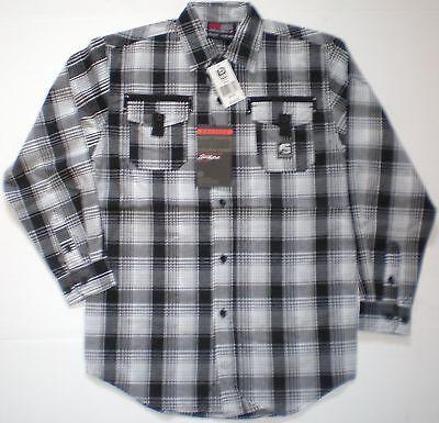 Wrangler BGS036A George Strait LS Plaid Western Cowboy Cut Boys Shirt