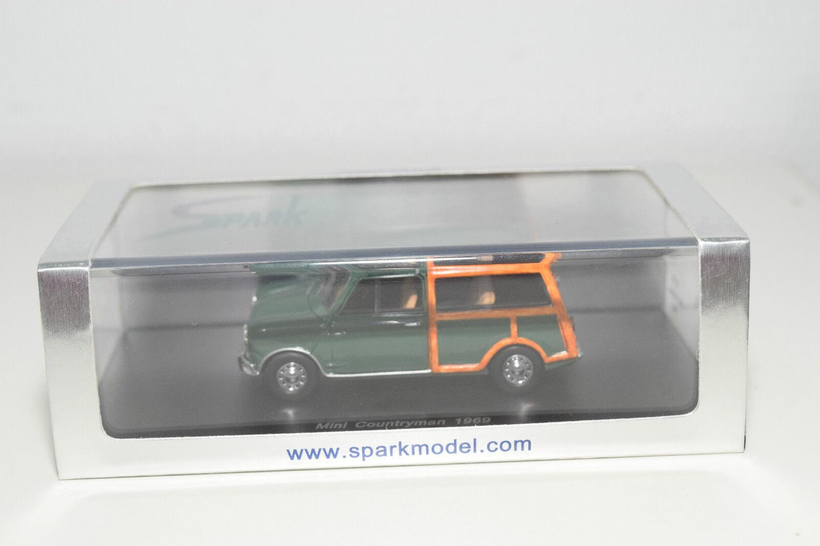 . . . SPARK S1514 MINI COUNTRYMAN 1969 DARK GREEN MINT BOXED 0dfc89