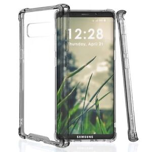 For-Galaxy-Note-8-Transparent-Smoke-Gray-Ultra-Slim-Bumper-Protector-Cover-Case