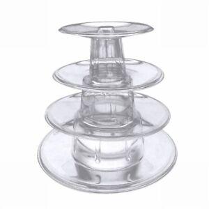 4-Tier-Macaron-Tortenstaender-Tower-Stand-Kuchen-Display-Rack-Party-Hochzeit-Deko