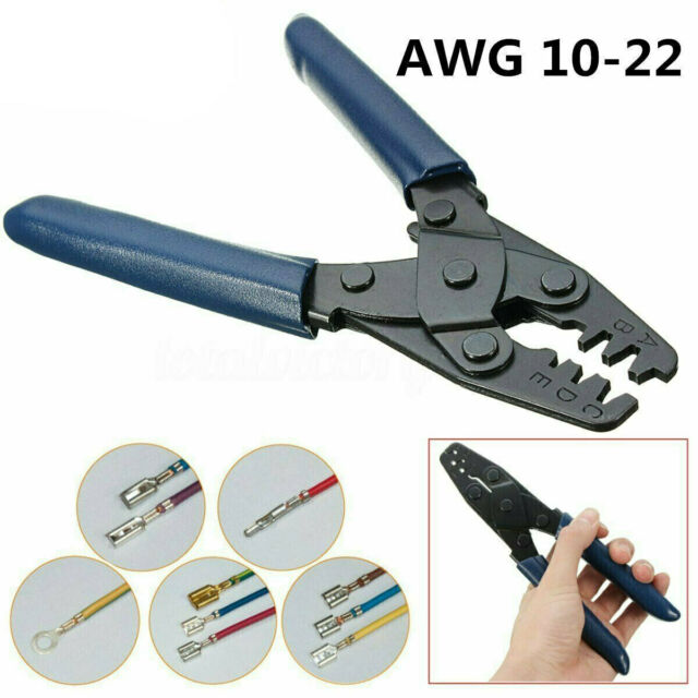 AWG 10-22 Double Terminal Crimp Electrical Crimping Tool Wire Stripper Plier XL