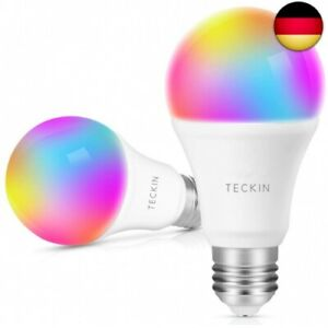 Smart WLAN LED Lampe Glühbirnen E27 Birne RGB Wifi Bulb mit 2 pack (2 pack)
