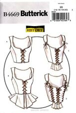 Butterick Pattern B4669 Women's Corset 14-20 Costume Renaissance Making History