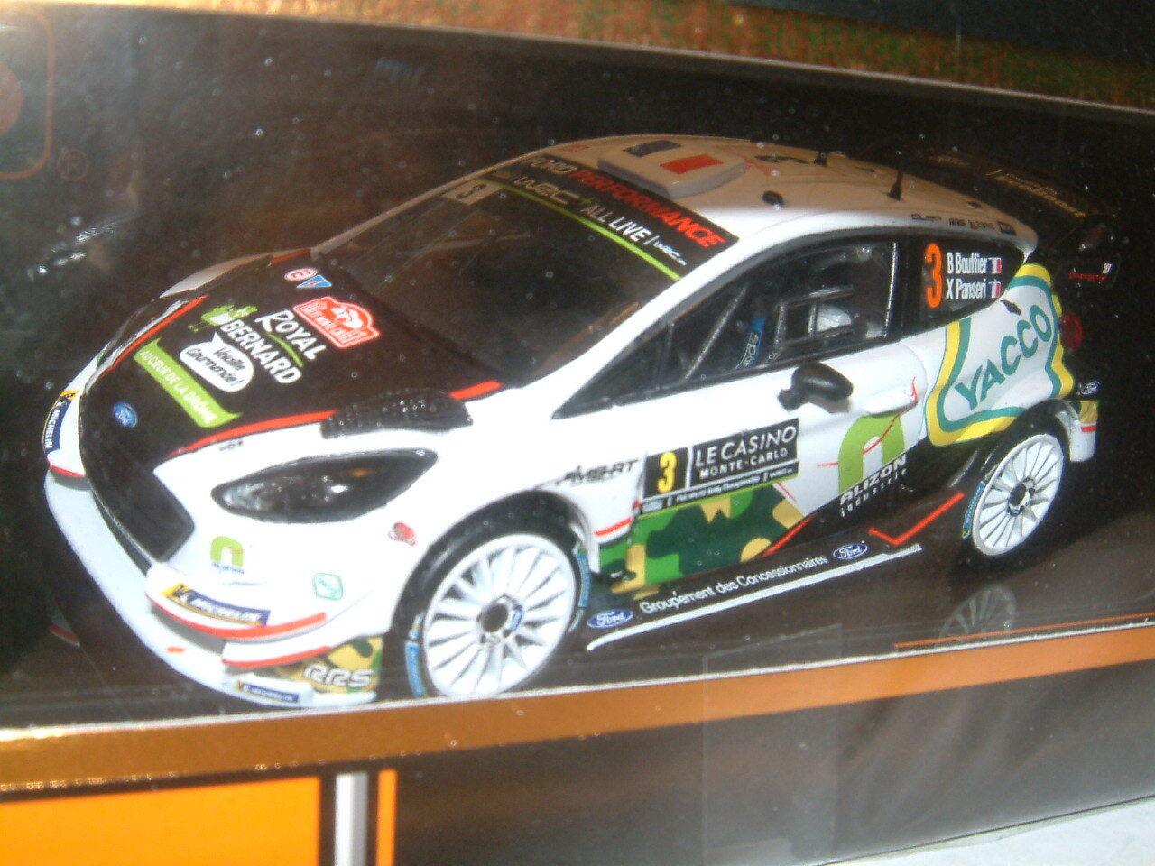 1 43 IXO FORD FIESTA WRC 2018 MONTE CARLO RALLY  BOUFFIER