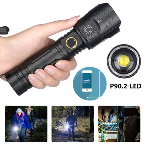 SEHR HELL XHP90.2 LED Taschenlampe USB Wiederaufladba IPX-6 Wasserdicht Fackel