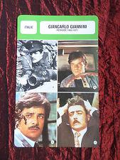 GIANCARLO GIANNINI - MOVIE STAR - FILM TRADE CARD - FRENCH
