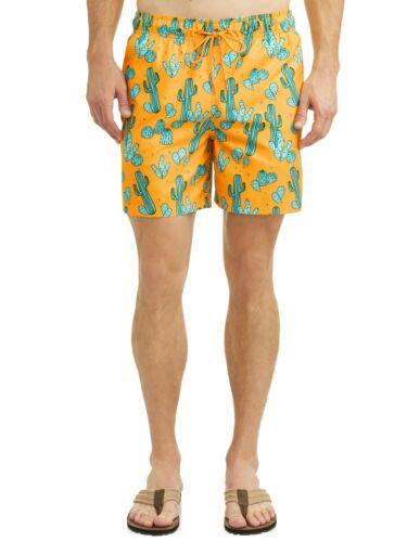 NWT 4XL//4XG 52-54 George Big Mens Shorts funny novelty Cactus Swim Gold Trunks