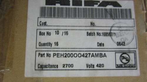 2700uF 20/% RIFA,PEH200OO427AMBA,Aluminum Electrolytic Capacitors,420V New