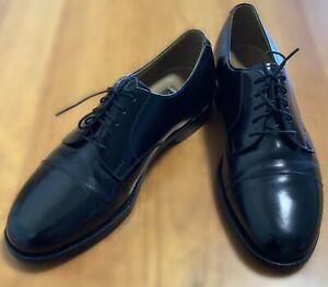 Johnston & Murphy Black Leather Cap Toe Oxford Dress Shoes Size 8.5 D