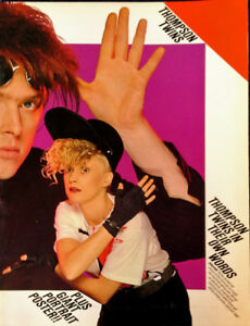 THOMPSON-TWINS-IN-THEIR-OWN-WORDS-PAPERBACK-COLOR-POSTER-CHERRY-LANE