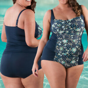 14-30 DD/E | Plus Size Tankini Top and Matching Full Brief