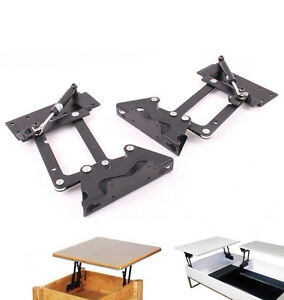 Lift Up Top Coffee Table Diy Hardware Fitting Furniture Gas Hydraulic Hinge Ebay
