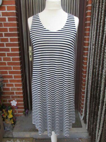 Toll.Tunika Shirt Kleid L XL 44 46 48 50 H/&M A-Linie Viskos.SchwarzWeiß Streifen