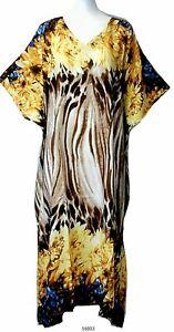 Ladies-100-cotton-floral-printed-Long-Kaftan-holiday-beach-dresses-10-32