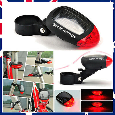 3Mode Solar Power  LED Rear Flashing Tail Light Lamp For Bicycle Bike Cycling