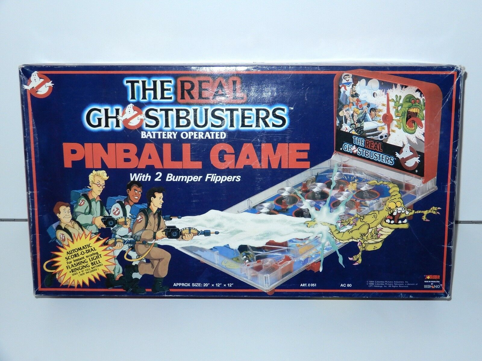 THE REAL GHOSTBUSTERS BATTERY OPERATED PINBALL GAME IN ORIGINAL BOX 1980s WORKS