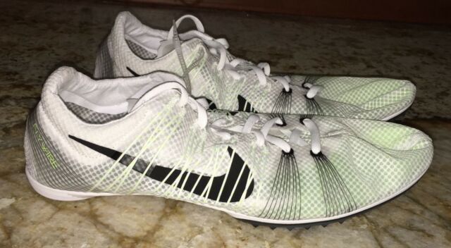 44c05f911a91 NIKE Victory 2 White Black Mid Distance Track Spikes Shoes Mens 6 7.5 13  12.5 15