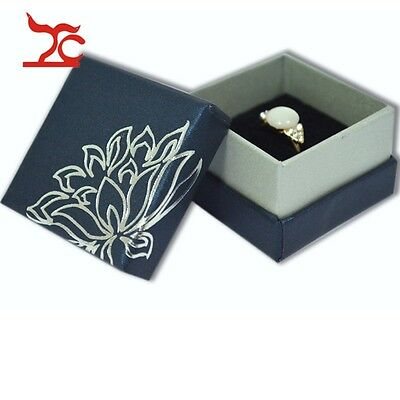2015 TC New Jewelry Box Navy Paper Birthday Engagement Gift Earring Ring Holder