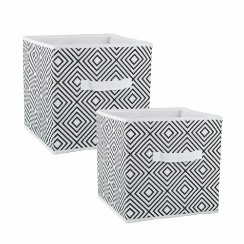 Storage Cube 2 PACK Fabric Basket Bin Container Shelves Cubby Drawers  Organizer