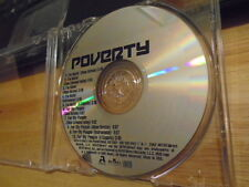 RARE PROMO Poverty CD single I'm Hatin' + For My People mixes RAP hip hop 10 trx