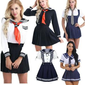 Halloween Women Schoolgirl Students Cosplay Costume Ladies Dress Uniform Outfit Handsome Appearance Intimates & Sleep Sleepwear & Robes