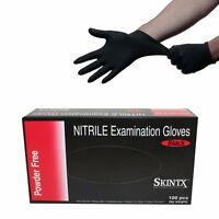 Pro 200pcs Black Nitrile Powder Free Medical Grade Exam Tattoo Gloves Size Picke
