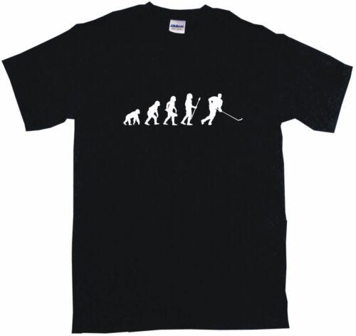Evolution of Humans Hockey Player Logo Mens Tee Shirt Pick Size Small-6XL