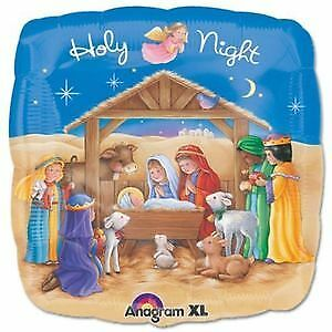Christmas HOLY NIGHT Nativity Youth Pageant Program Celebration Party Balloon